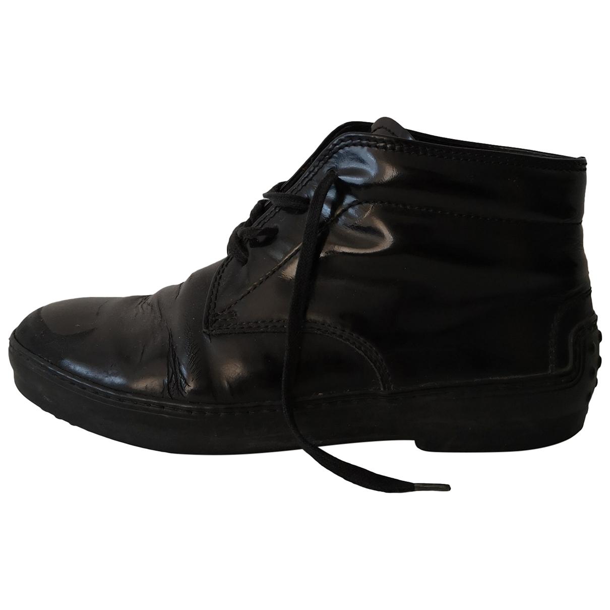 Tods - Boots   pour femme en cuir verni - noir