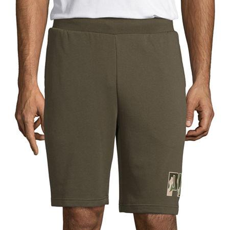Puma Camo Mens Pull-On Short, Large , Green