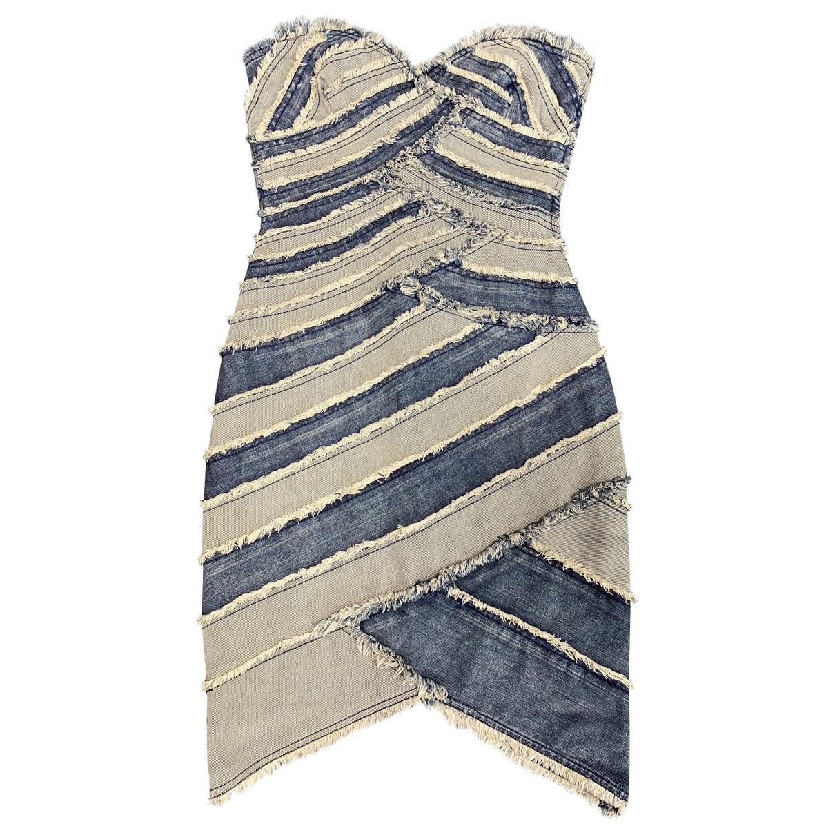 Trussardi Jeans \N Kleid in  Blau Denim - Jeans