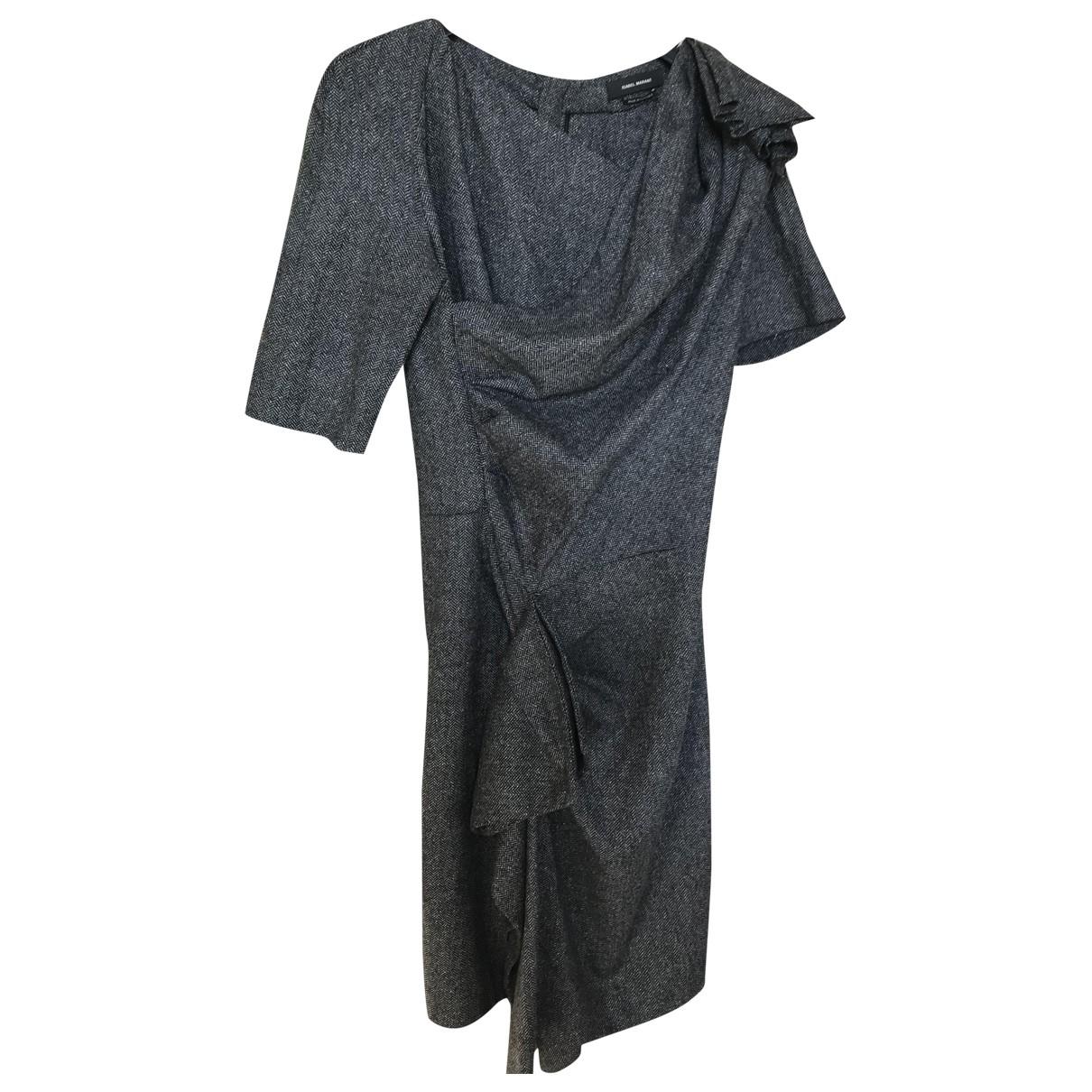 Isabel Marant \N Kleid in  Grau Tweed