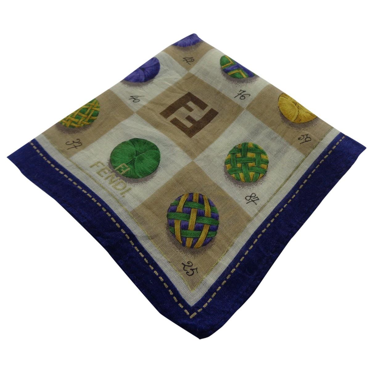 Fendi \N Brown Cotton Silk handkerchief for Women \N