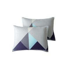 1 par funda de almohada de color combinado sin relleno