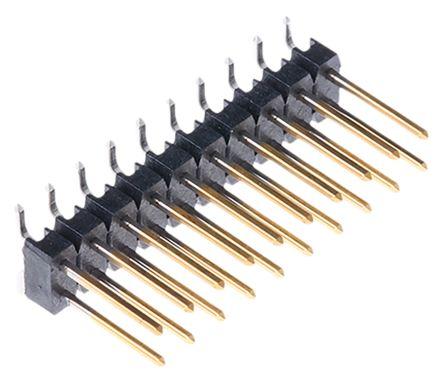 TE Connectivity , AMPMODU MOD II, 20 Way, 2 Row, Straight Pin Header