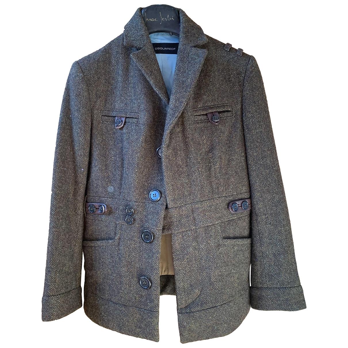 Dsquared2 \N Brown Wool jacket for Women 40 IT