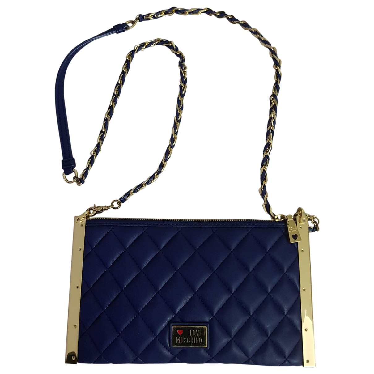 Moschino Love \N Blue Leather handbag for Women \N