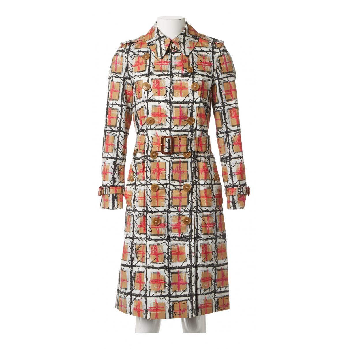 Burberry - Trench   pour femme en coton - multicolore