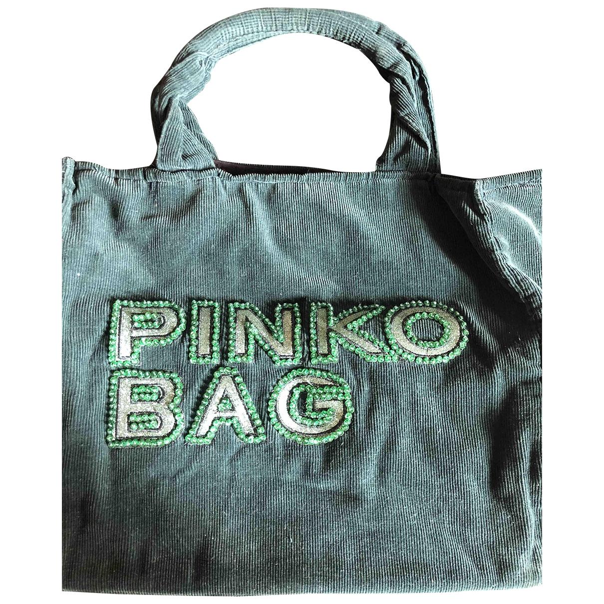 Pinko - Sac a main Love Bag pour femme en velours - vert