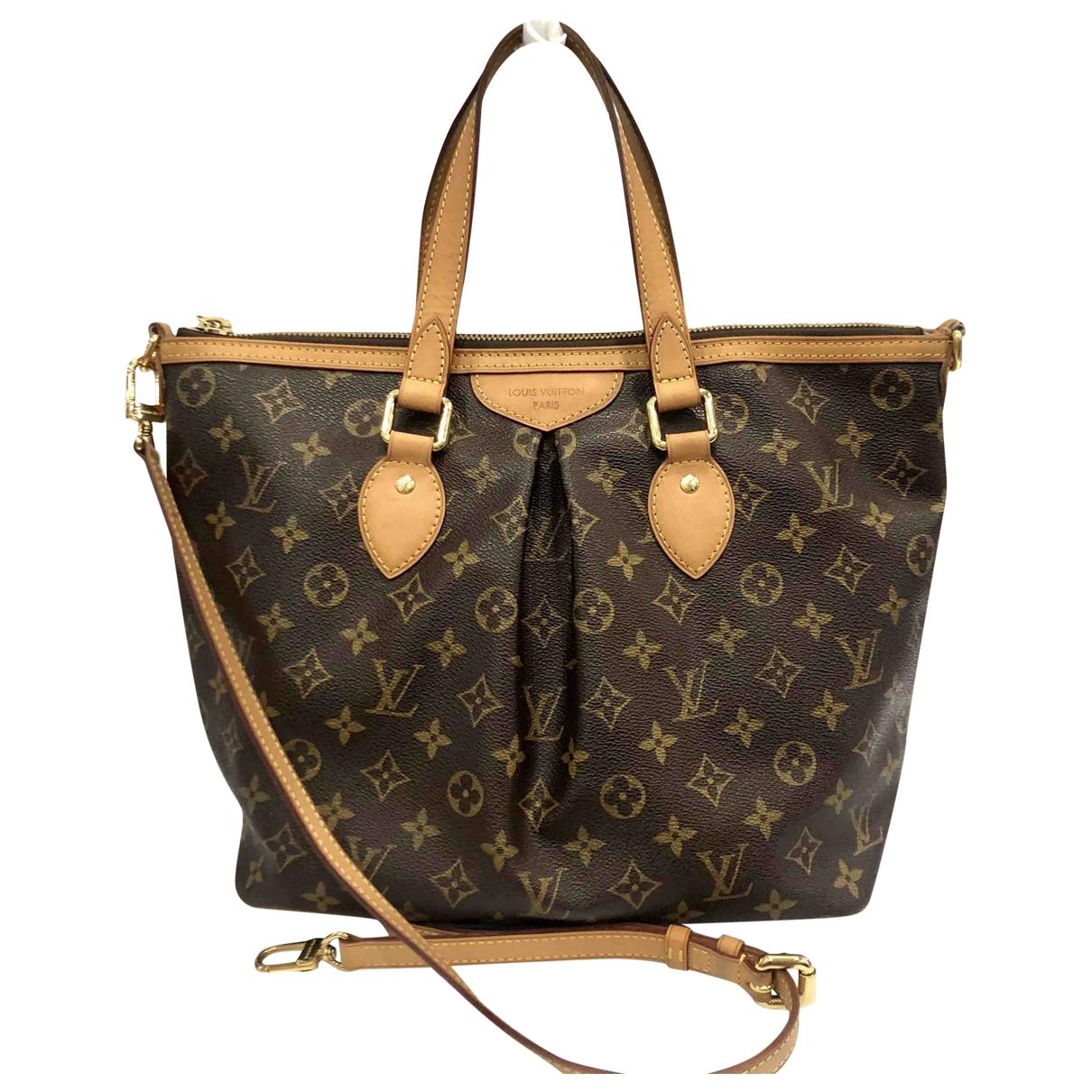 Louis Vuitton Siena Handtasche in  Braun Leinen