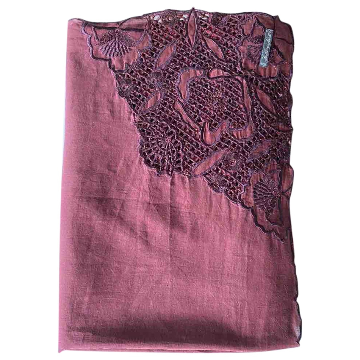 Faliero Sarti \N Burgundy Cotton scarf for Women \N