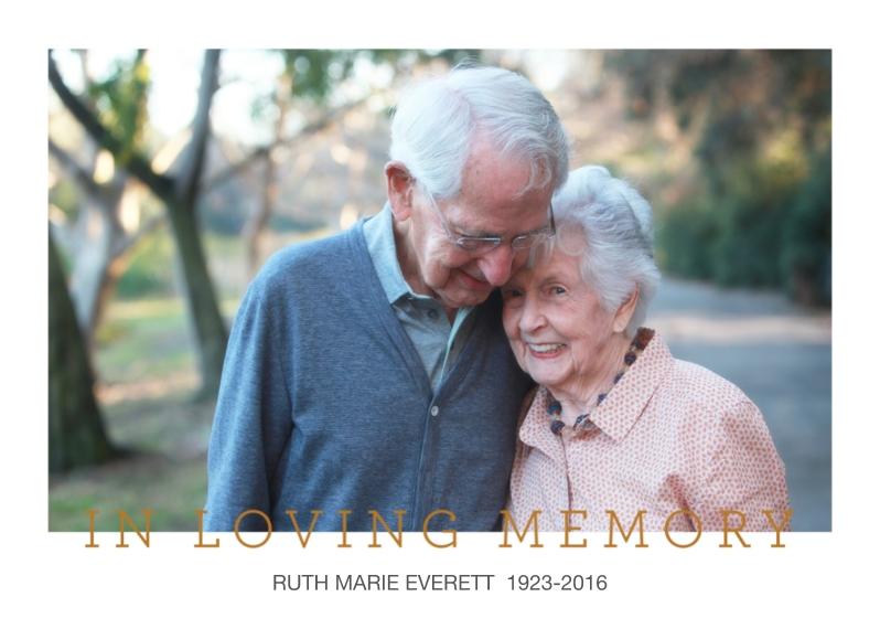 Sympathy 5x7 Folded Cards, Standard Cardstock 85lb, Card & Stationery -In Loving Memory