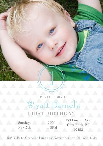 1st Birthday Invitations 5x7 Cards, Premium Cardstock 120lb, Card & Stationery -Adding Up Birthday Invite