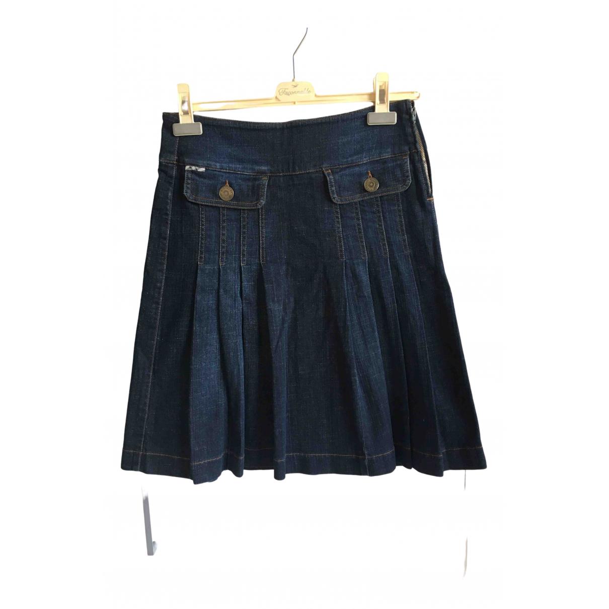 Burberry \N Rocke in  Blau Denim - Jeans