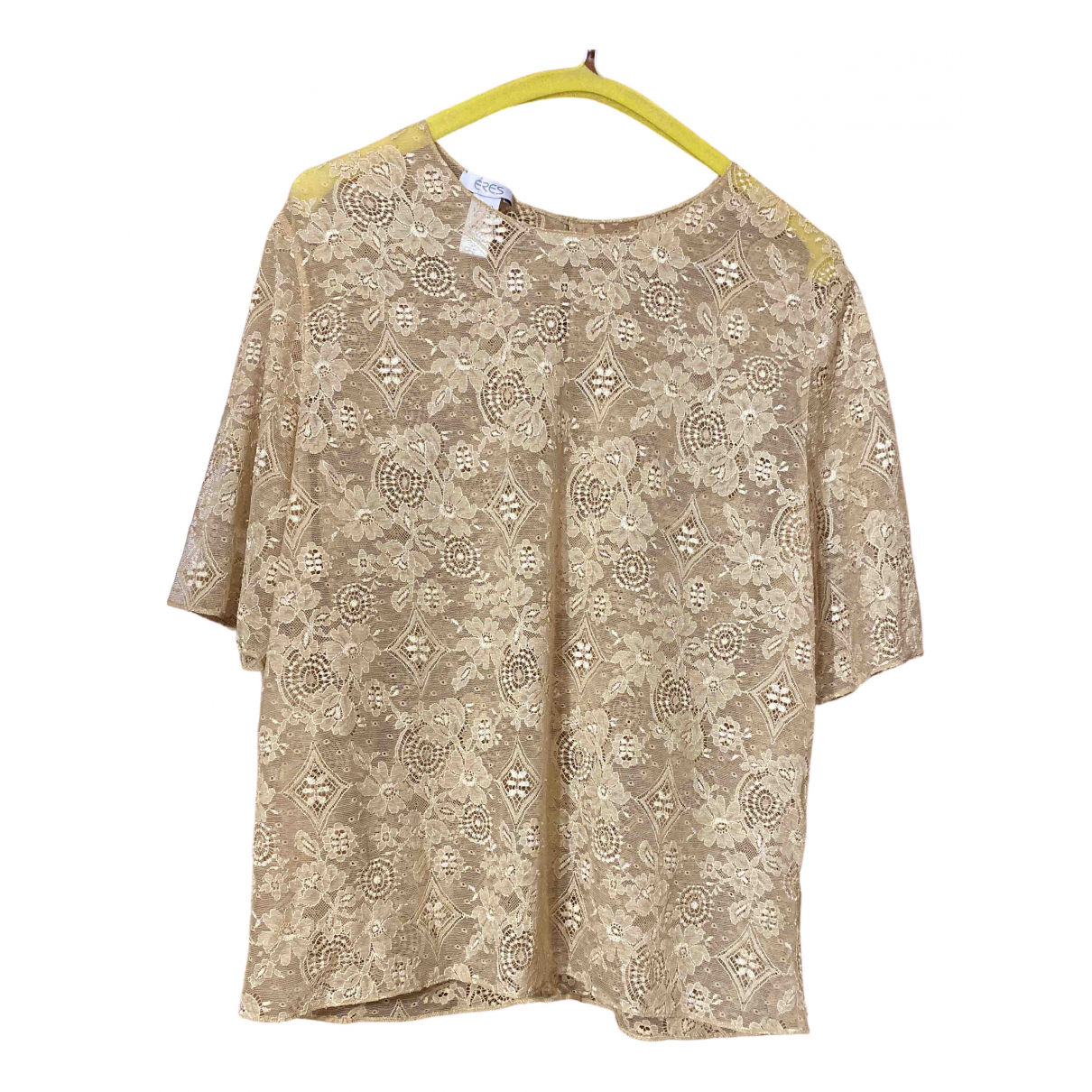 Eres \N Beige Lace  top for Women M International