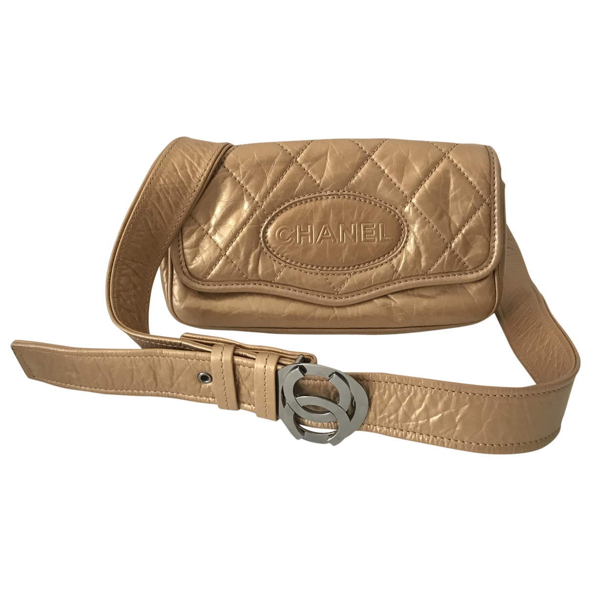 Chanel \N Gold Leather Clutch bag for Women \N