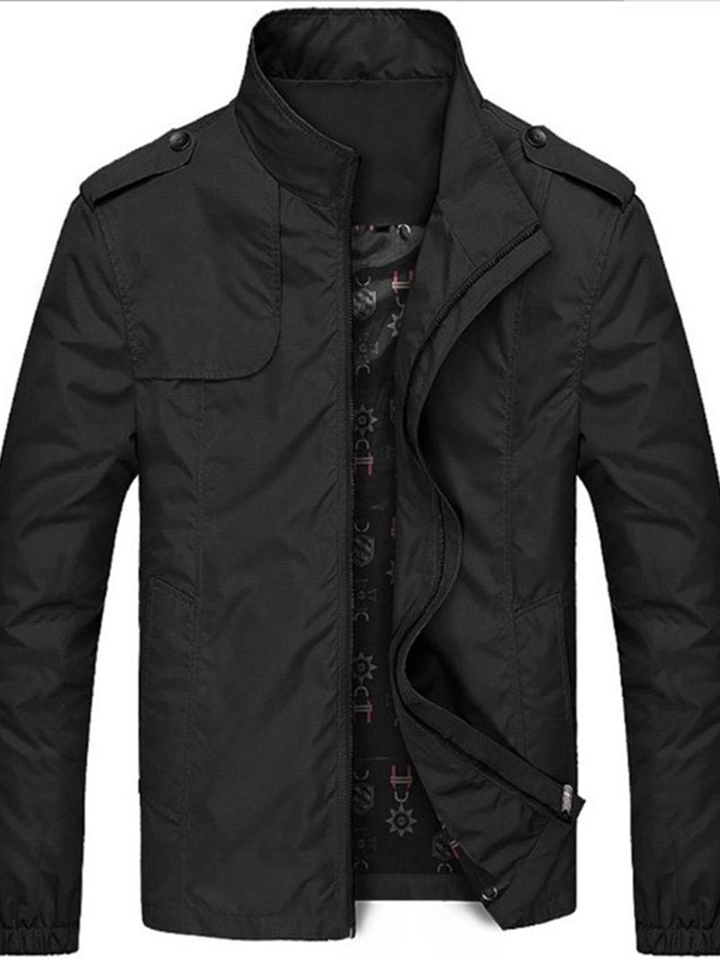 Ericdress Zipper Stand Collar Thin Style Mens Jacket