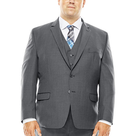 Collection by Michael Strahan Gray Weave Suit Jacket - Big & Tall, 56 Big Long, Gray