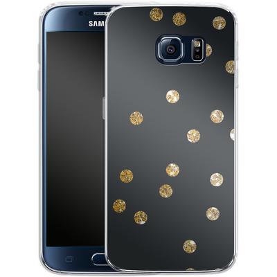 Samsung Galaxy S6 Silikon Handyhuelle - Gold Dots von Khristian Howell