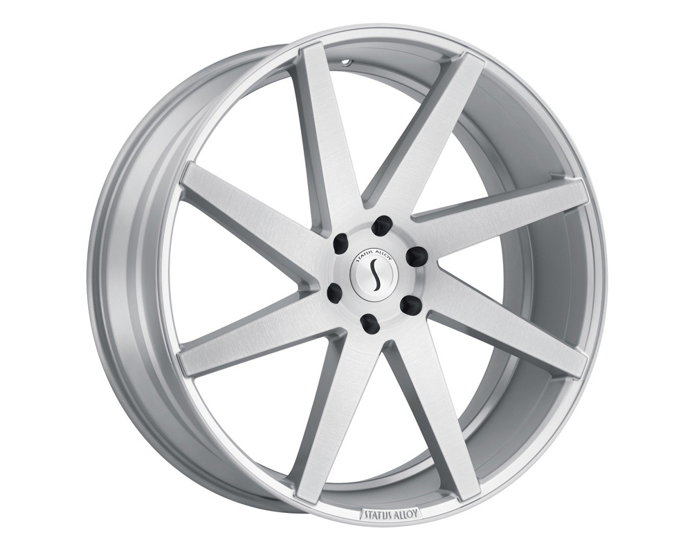 Status Brute Wheel 24x9.5 5x139.7 15mm Silver w/ Brushed Machine Face