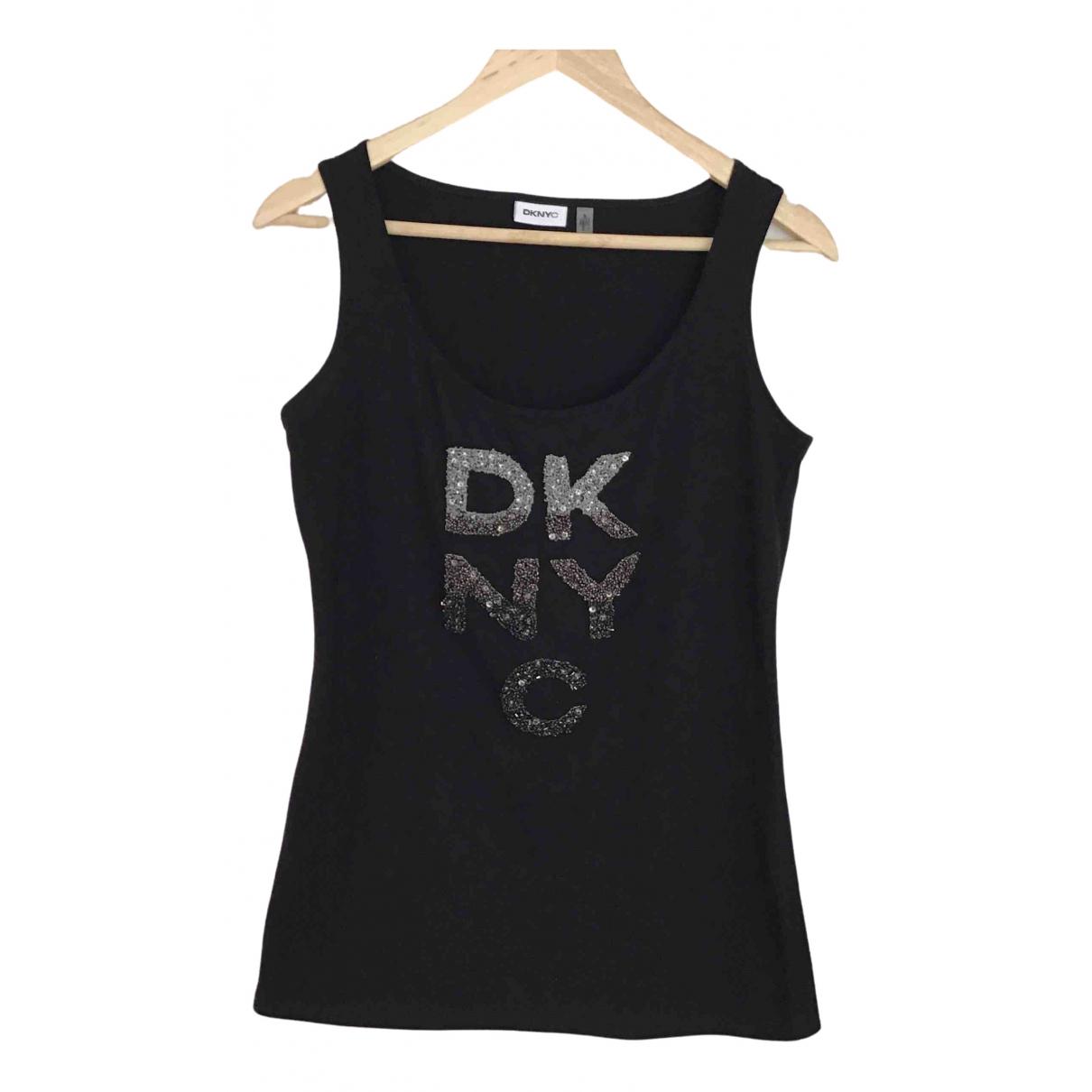 Dkny - Top   pour femme en coton - noir
