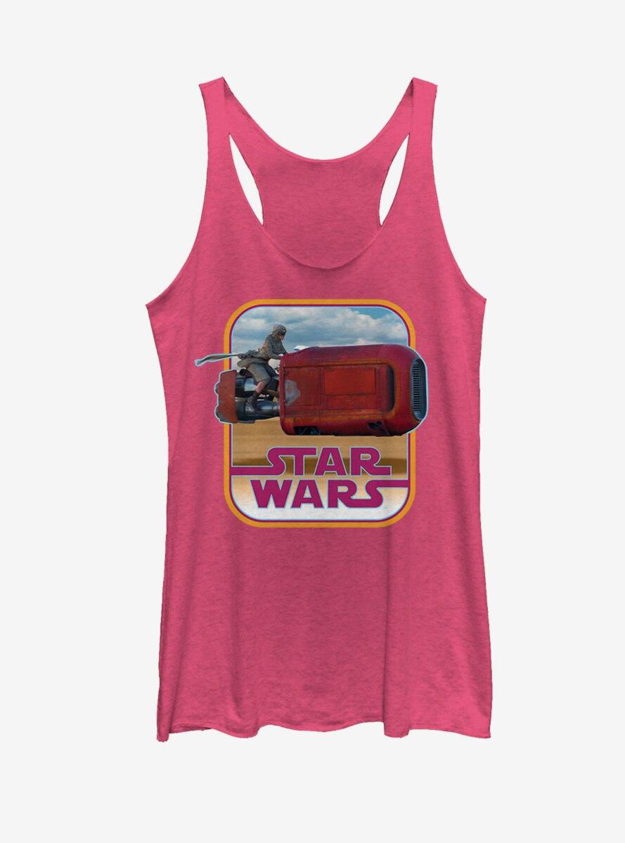 Star Wars Retro Rey Speeder Womens Tank