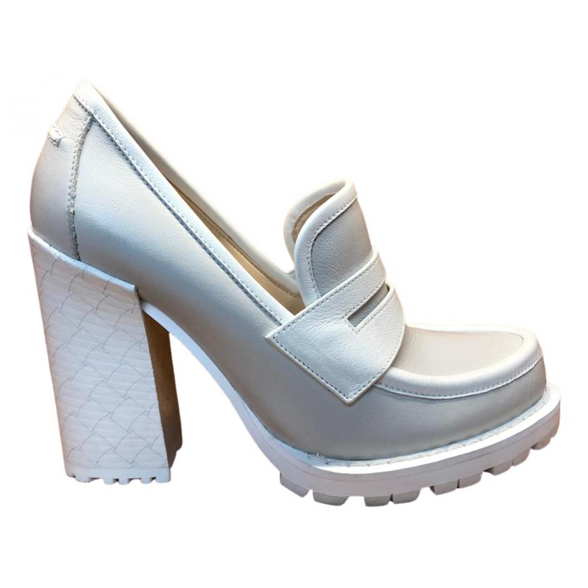 Bottega Veneta \N White Leather Heels for Women 36 EU