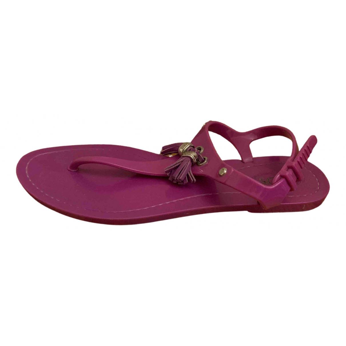 Tods - Sandales   pour femme en caoutchouc - rose