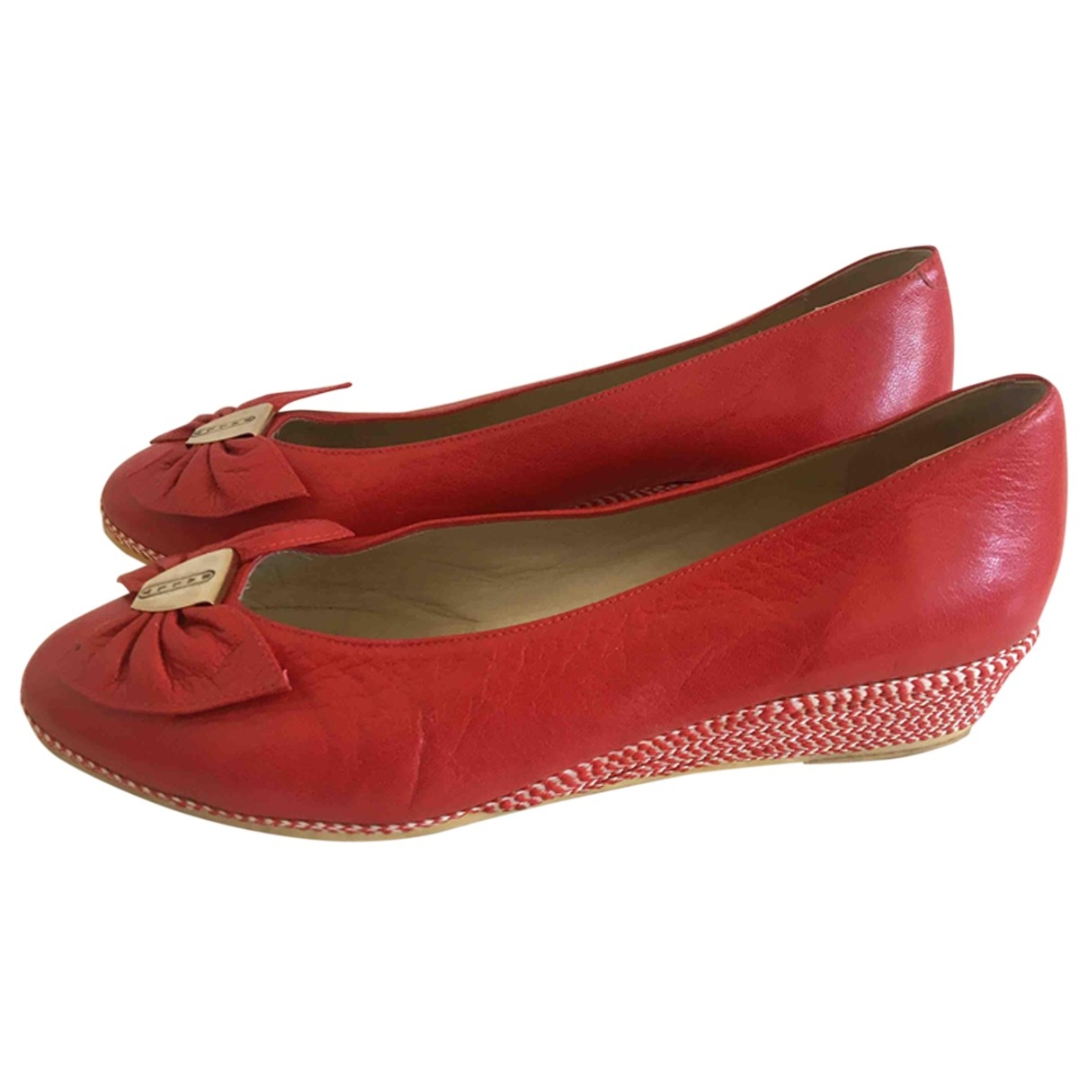 Bally \N Red Leather Heels for Women 39.5 EU