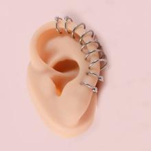 4 piezas cuff de oreja con diamante de imitacion