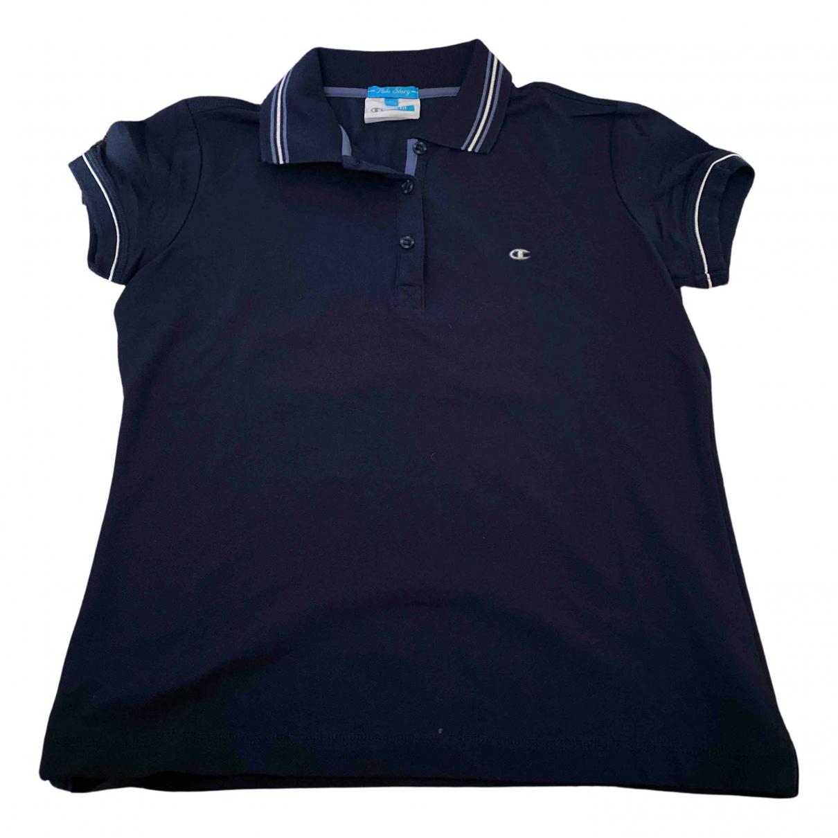 Champion - Top   pour femme en coton - bleu