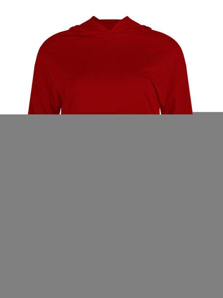 Milanoo Women Hooded Sweatshirt Green Long Sleeves Patchwork Hoodie