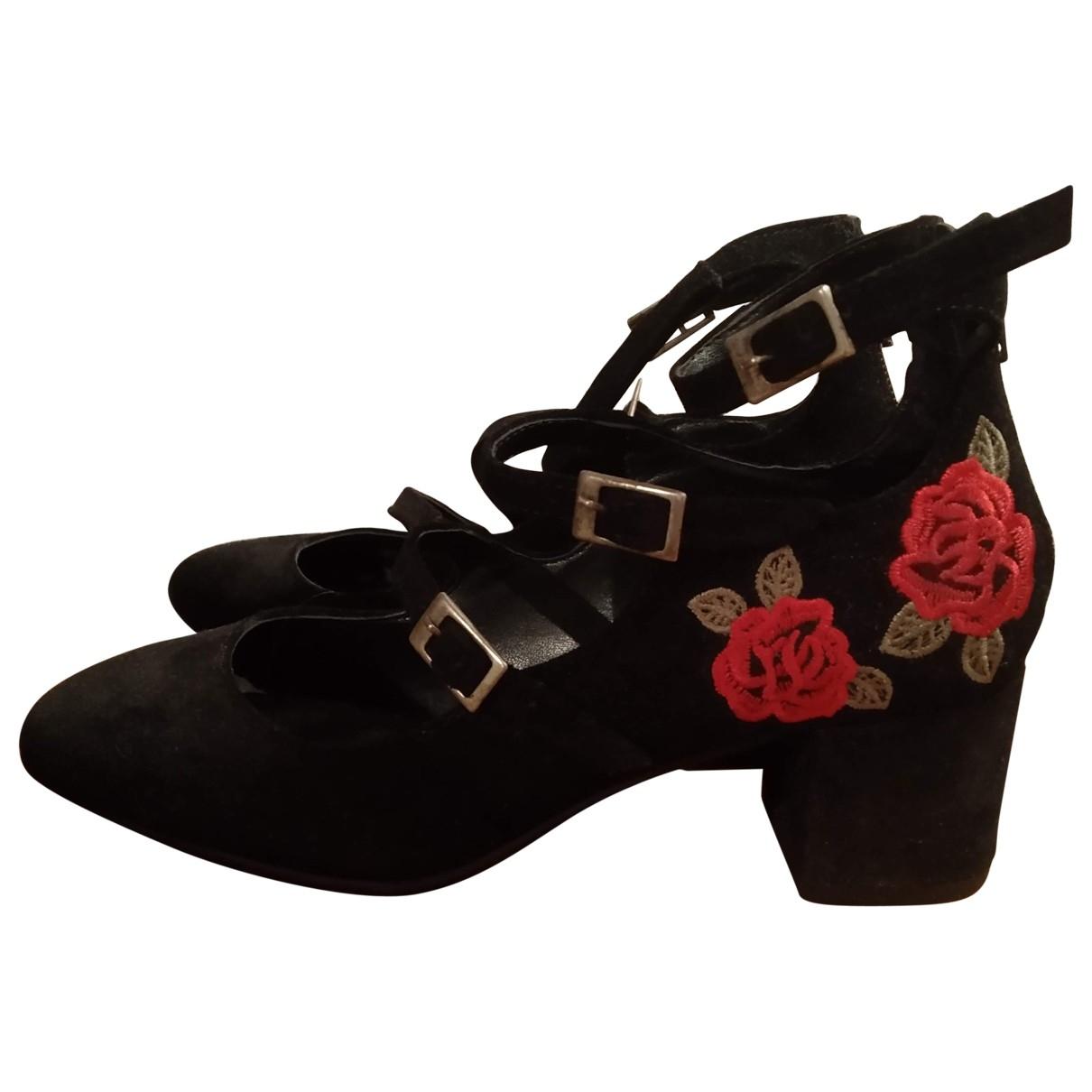 Steve Madden \N Black Suede Heels for Women 6.5 US