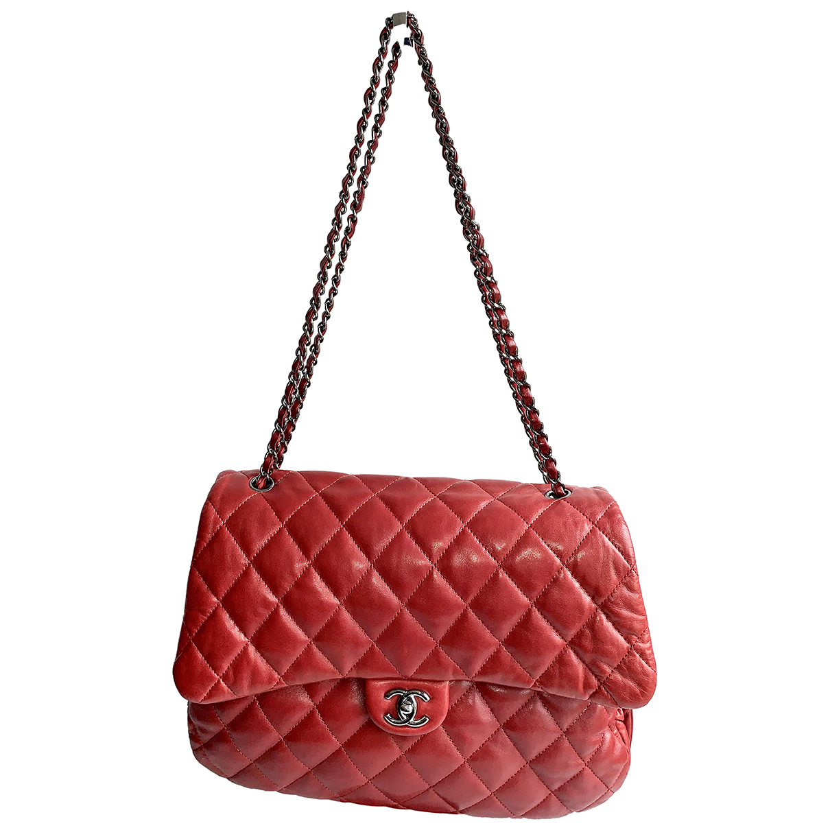 Chanel Timeless/Classique Red Leather handbag for Women N