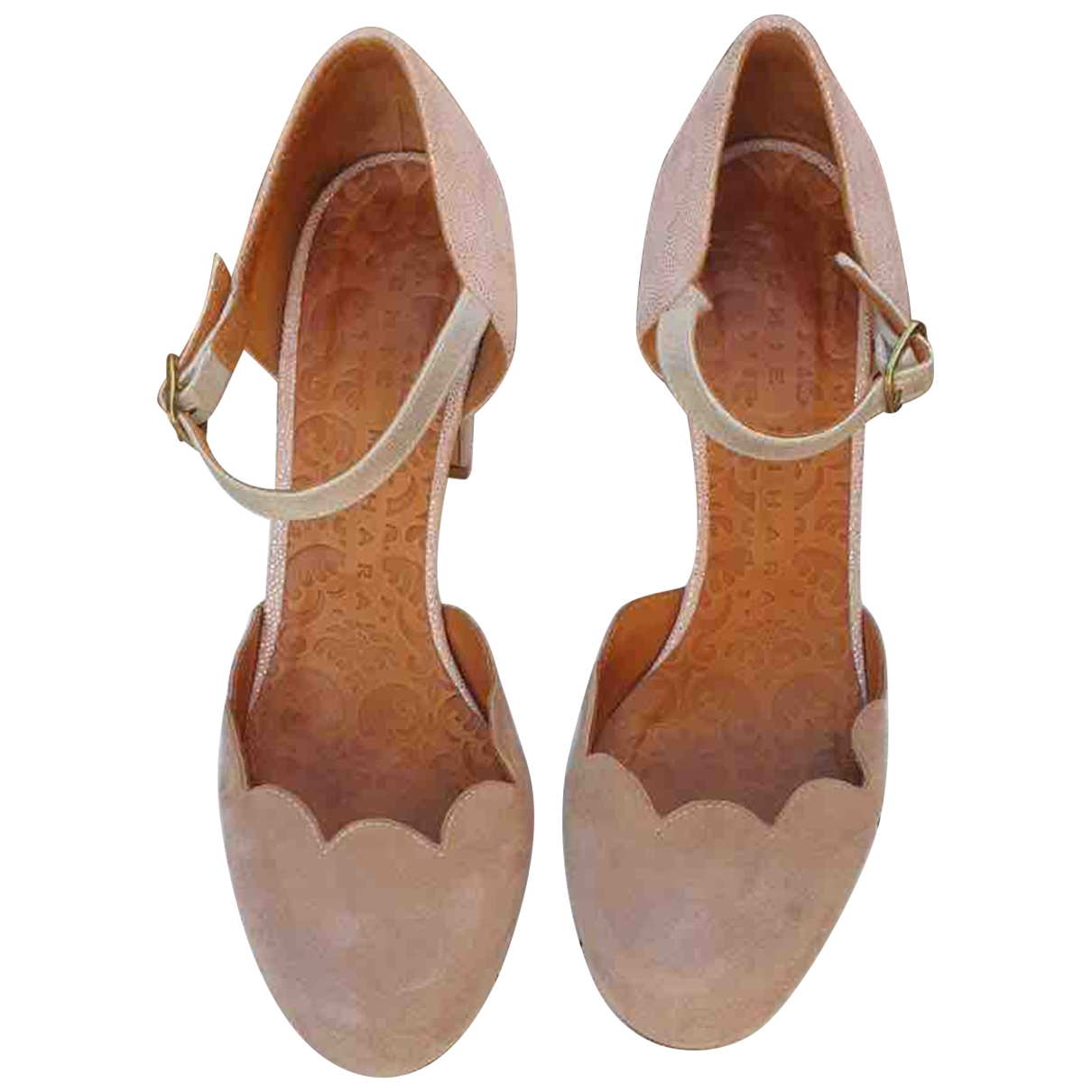 Chie Mihara \N Pink Suede Sandals for Women 37 IT