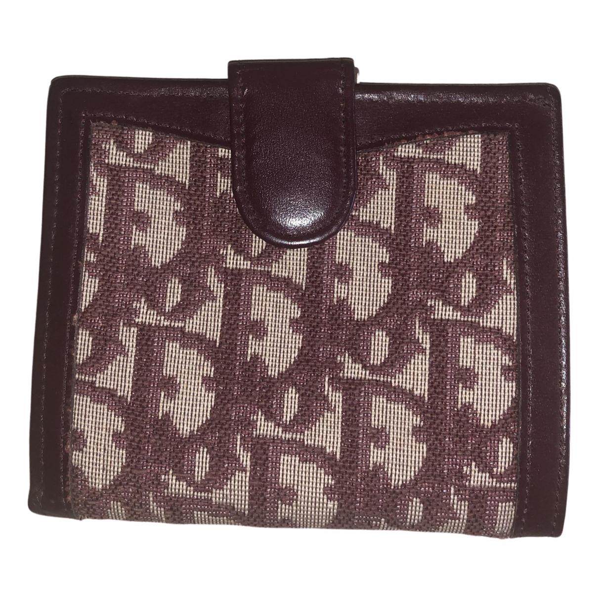 Dior - Portefeuille   pour femme en toile - rouge