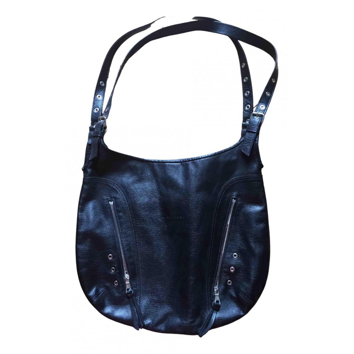 Longchamp Kate Moss Black Leather handbag for Women \N