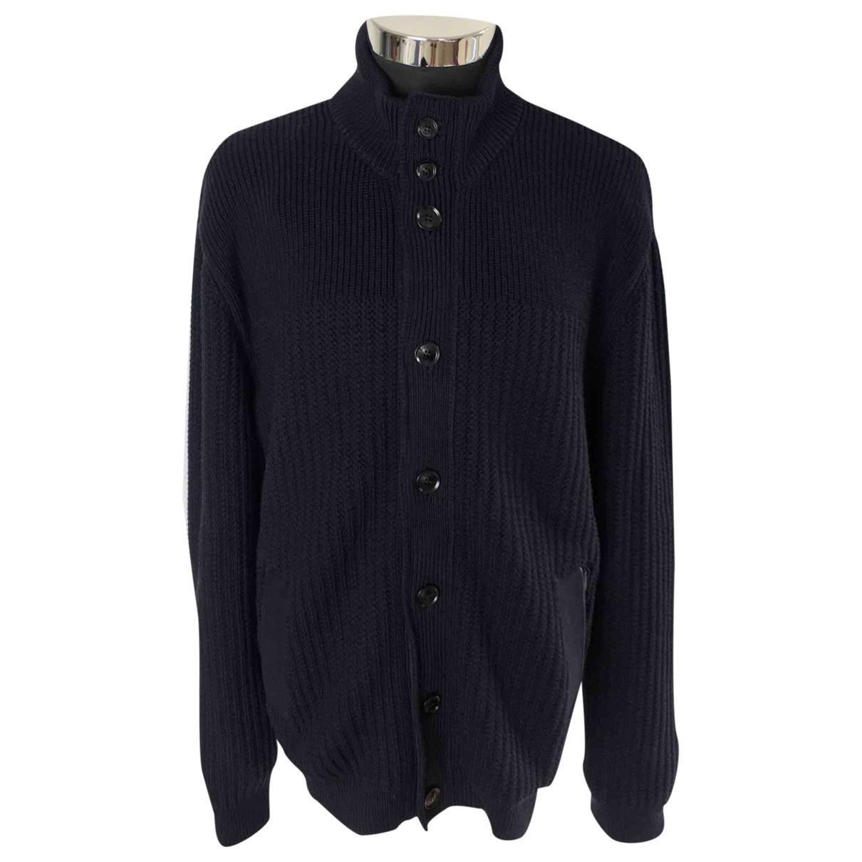 Ermenegildo Zegna \N Pullover.Westen.Sweatshirts  in  Marine Wolle