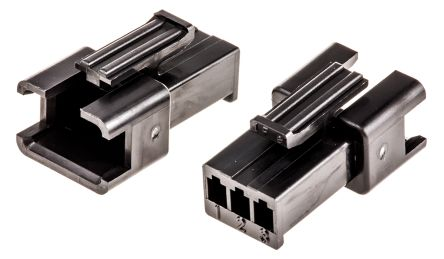 JST , 3 Way, 1 Row, Straight Backplane Connector (10)