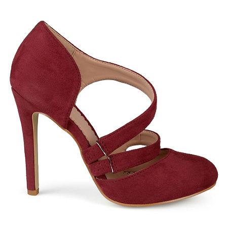 Journee Collection Womens Zeera Pumps Stiletto Heel, 10 Medium, Red