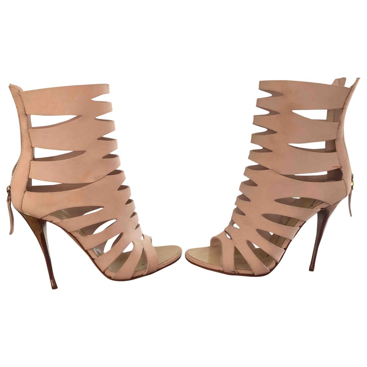 Giuseppe Zanotti - Boots   pour femme en suede - rose