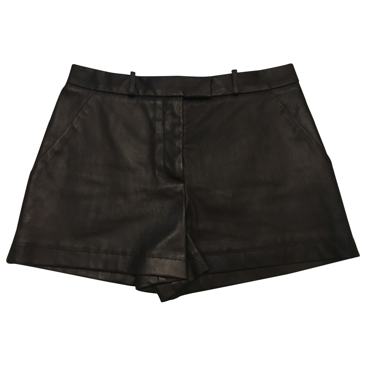 Emilio Pucci N Black Leather Shorts for Women 40 IT