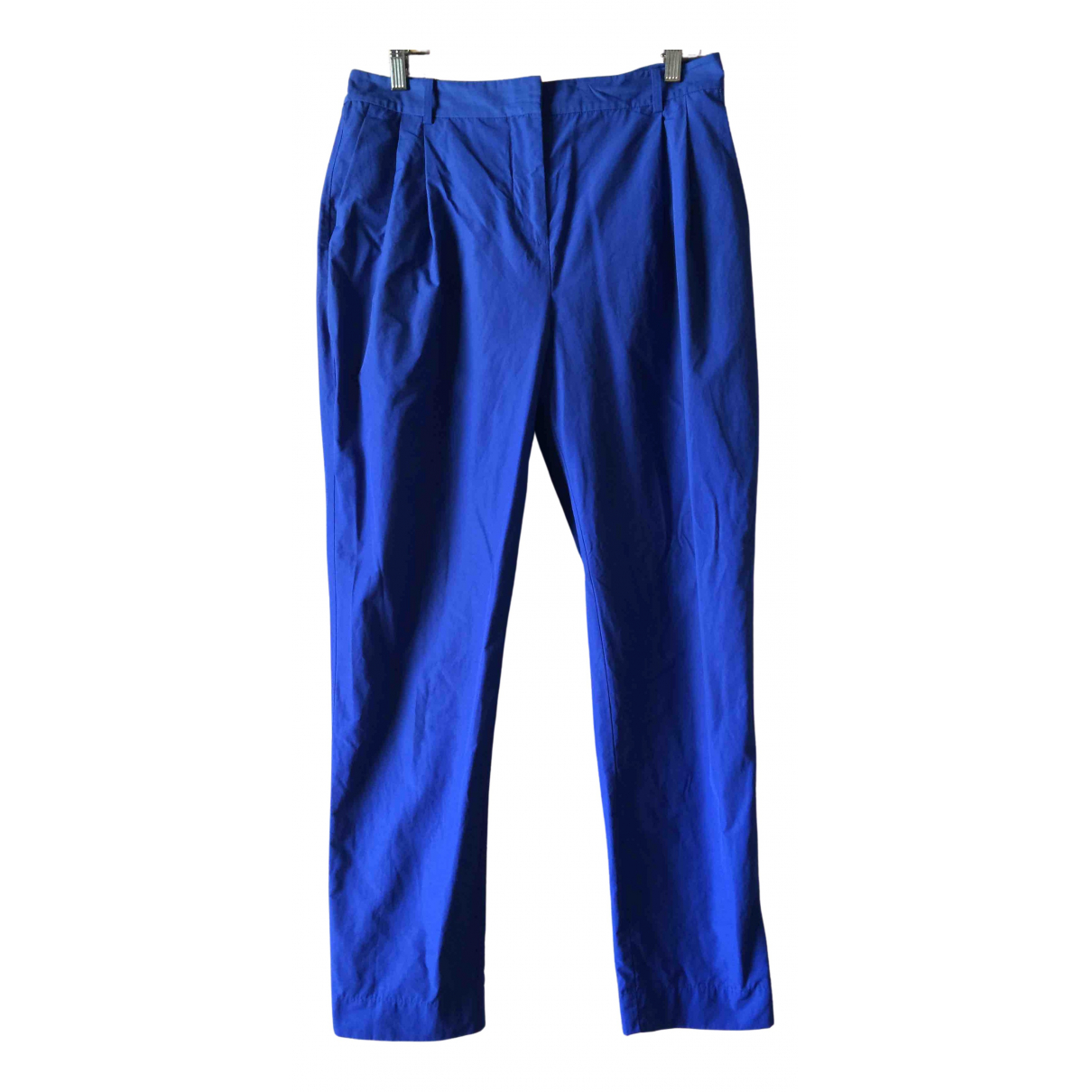 T By Alexander Wang N Blue Cotton Trousers for Women 8 US