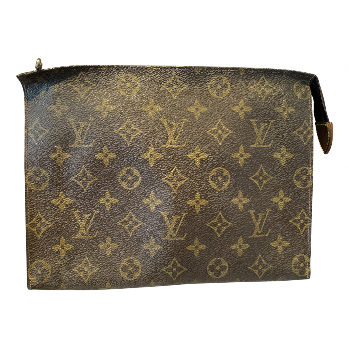 Louis Vuitton Poche toilette Brown Cloth Travel bag for Women N