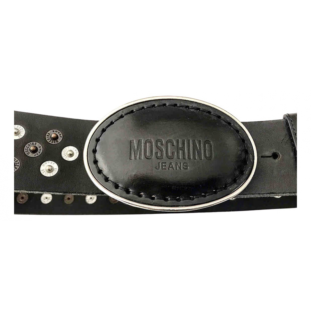 Moschino Cheap And Chic \N Black Leather belt for Women L International