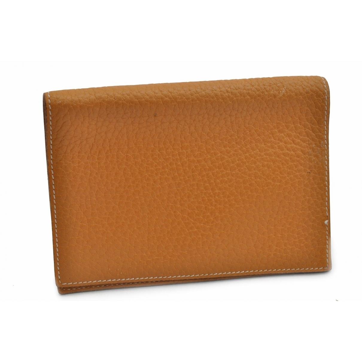 Hermès \N Beige Leather Purses, wallet & cases for Women \N