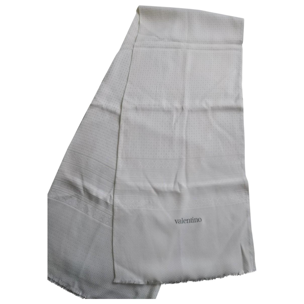 Valentino Garavani \N White Silk scarf for Women \N