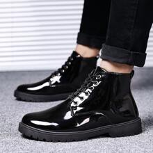 Men Patent Leather Boots