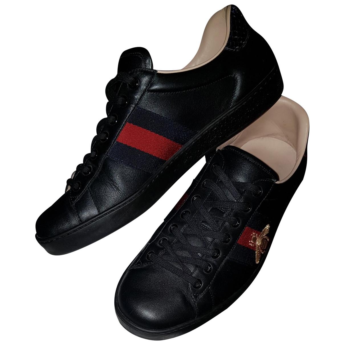 Gucci - Baskets Ace pour homme en cuir - marine