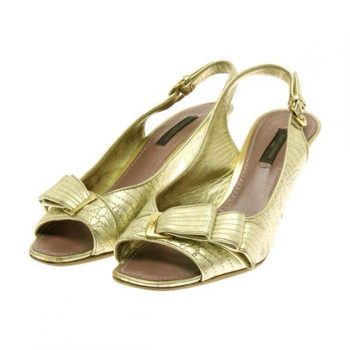 Sandalias de Lona Louis Vuitton
