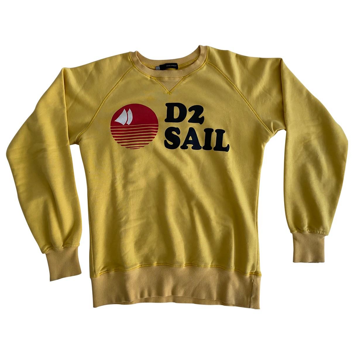 Dsquared2 - Pulls.Gilets.Sweats   pour homme en coton - jaune