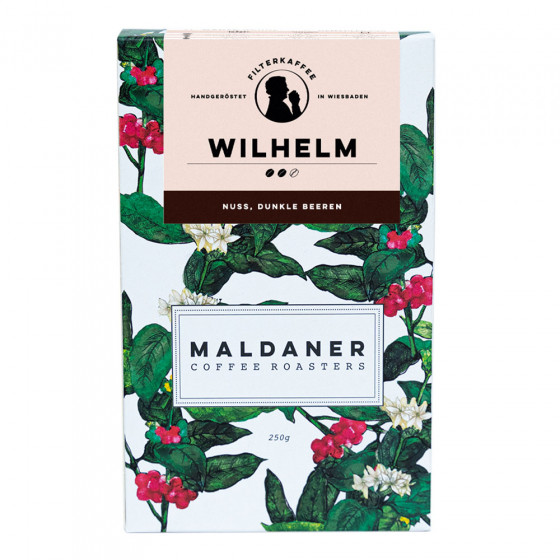 Kaffeebohnen Maldaner Kaffeerosterei Filter Wilhelm, 250g